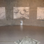 Carita Savolainen, Aircsape on Water, drawings and sound installation in the Watertower of Kotka, Finland 2012