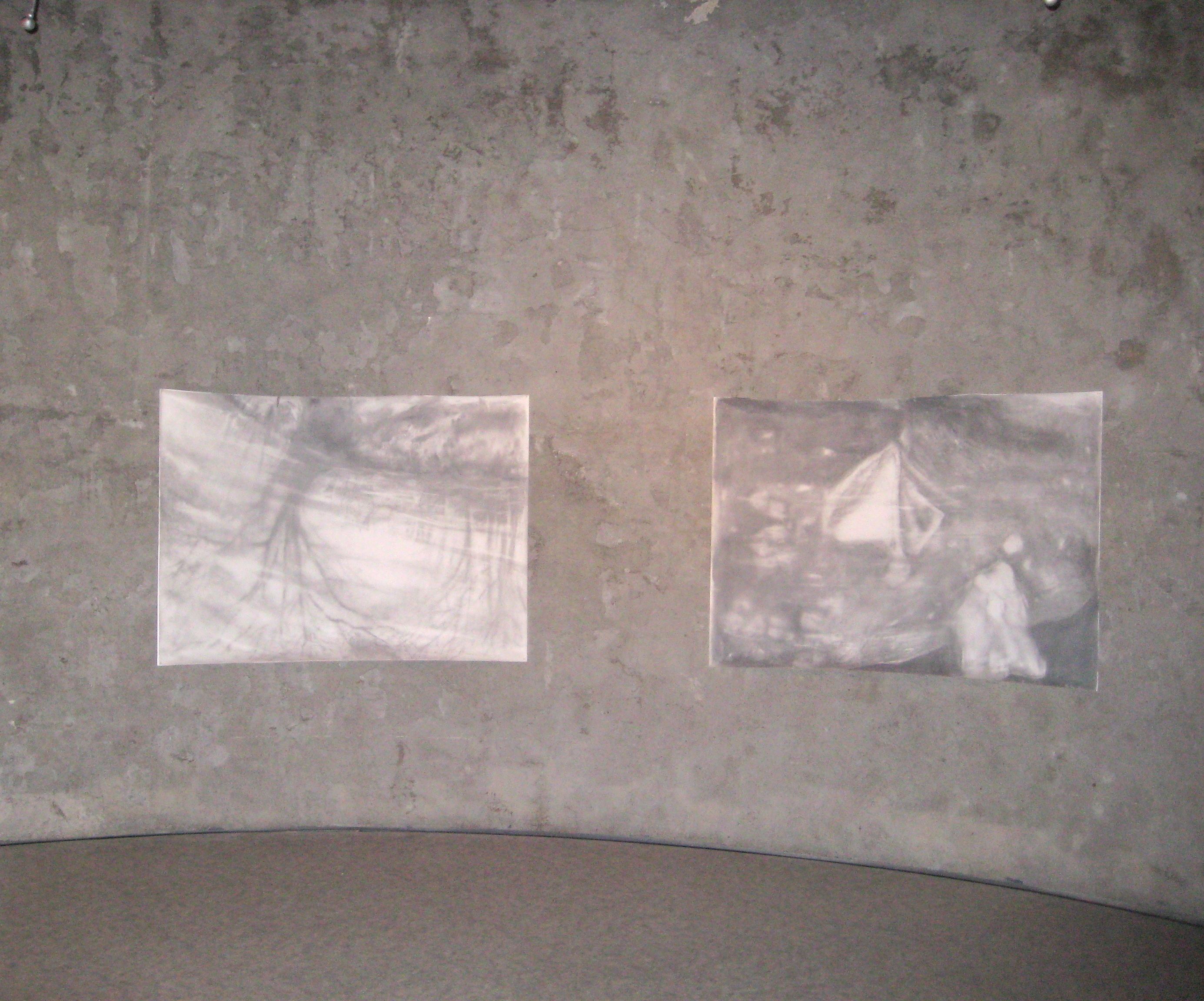 Carita Savolainen, Airscape on Water, drawing and sound installation in the Watertower of Kotka, Finland 2012