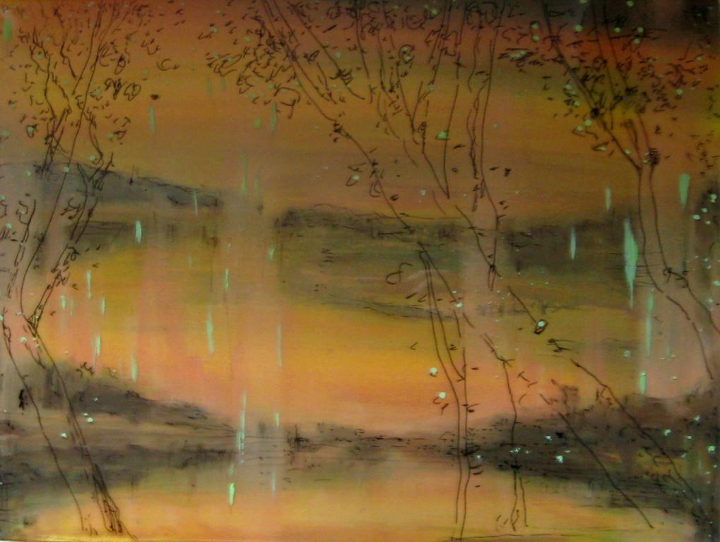 carita savolainen, Hide (x), mixed media 20cm x 30cm, 2014