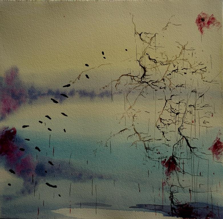 1n-Salt-Rain-XVI_Carita-Savolaine-watercolorand-ink-on-paper-28cm-x-28cm-2021