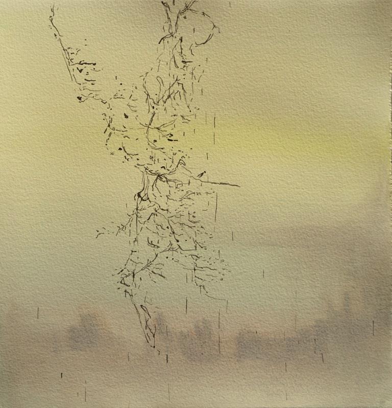 Carita-Savolainen-Salt-Rain-XVII-watercolorand-ink-on-paper-28cm-x-28cm-2021-Copie