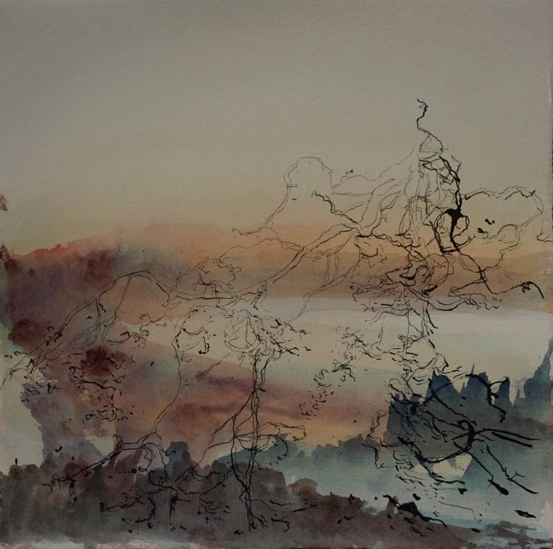 carita-savolainen-Salt-Rain-XIX-watercolor-and-ink-on-paper-28cm-x-28cm-2021-Copie
