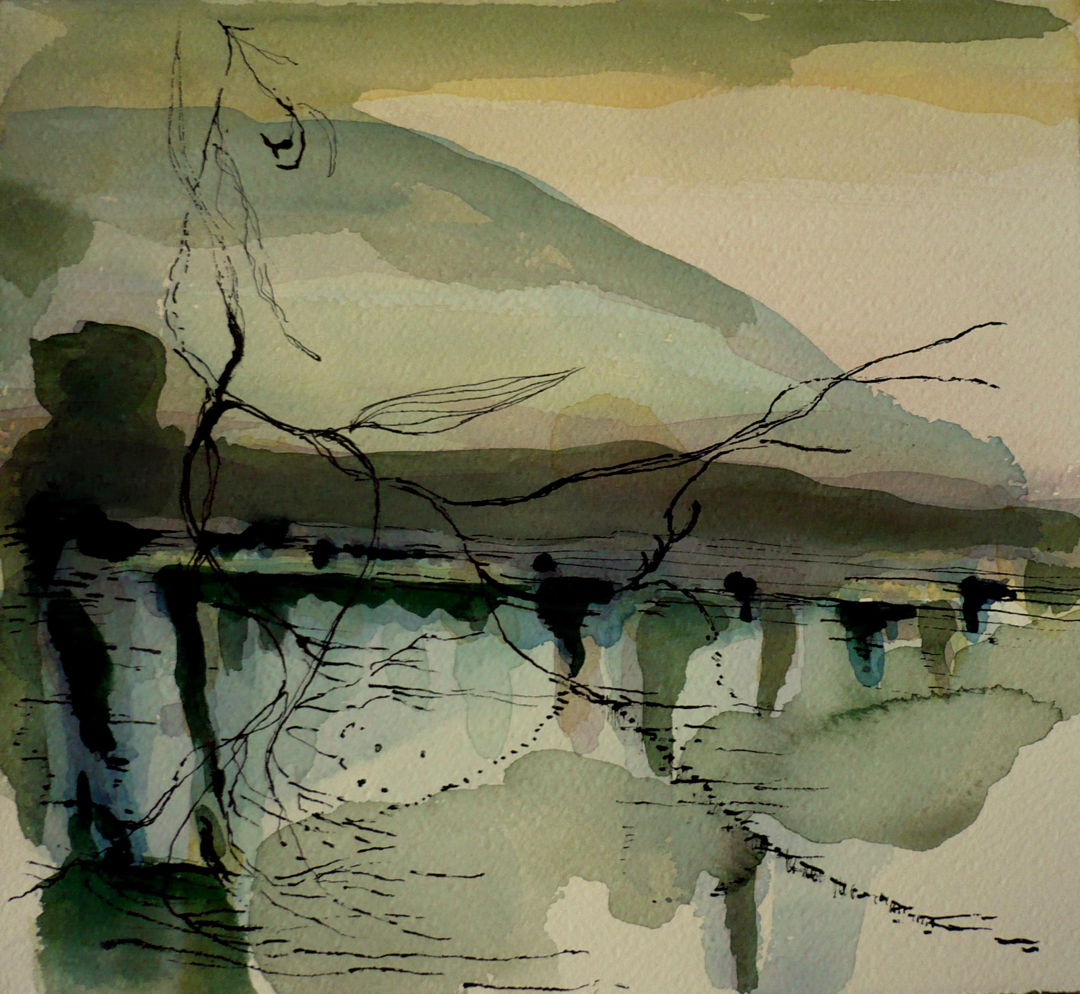 carita-savolainen-landscape-is-singing-le-chant-du-paysage-xvi-watercolor-and-ink-on-arche-paper-25cm-x-25cm-2019