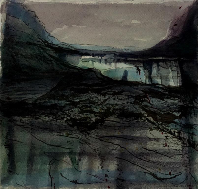 carita-savolainen-landscape-is-singing-xxiii-watercolor-and-ink-on-paper-25cm-x-25cm-2020-copie