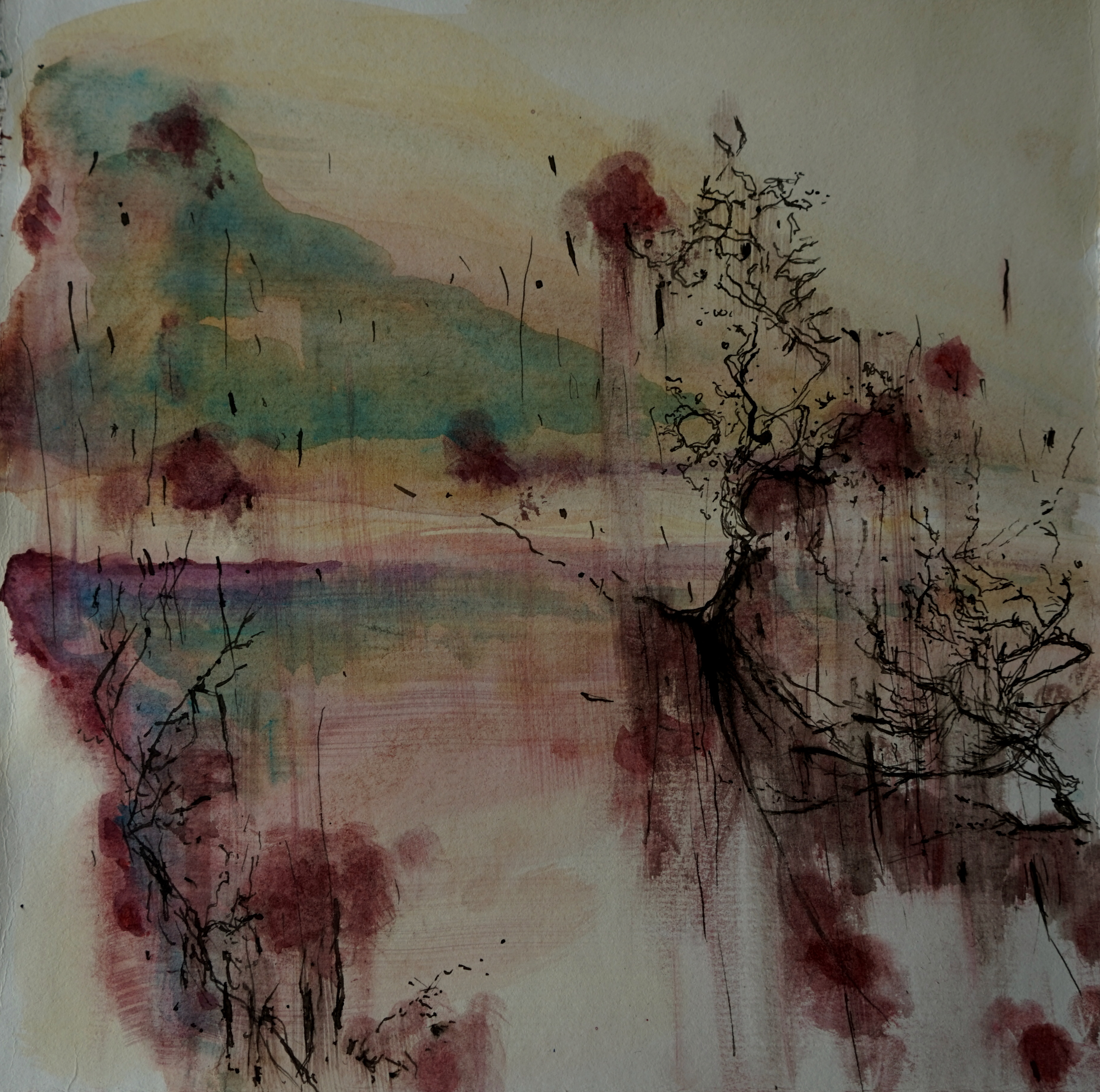 carita-savolainen-salt-rain-xi-watercolor-and-ink-on-paper-25cm-x-25cm-2020