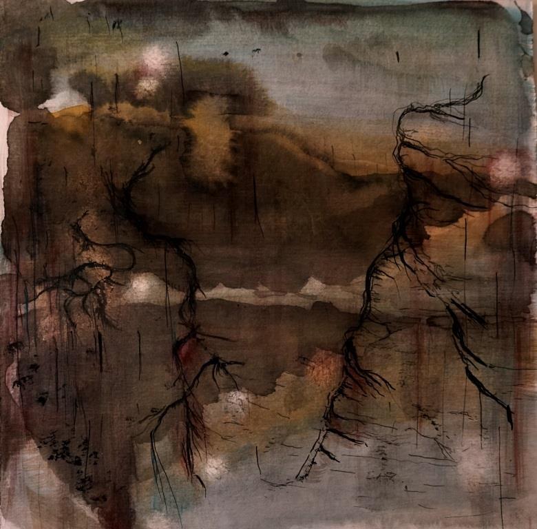 carita-savolainen-salt-rain-xiii-watercolor-and-ink-on-paper-25cm-x-25cm-2020