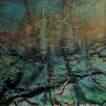 Carita Savolainen,, The Song of the Woods VIII,  oil 116 cm x 89cm, 2020