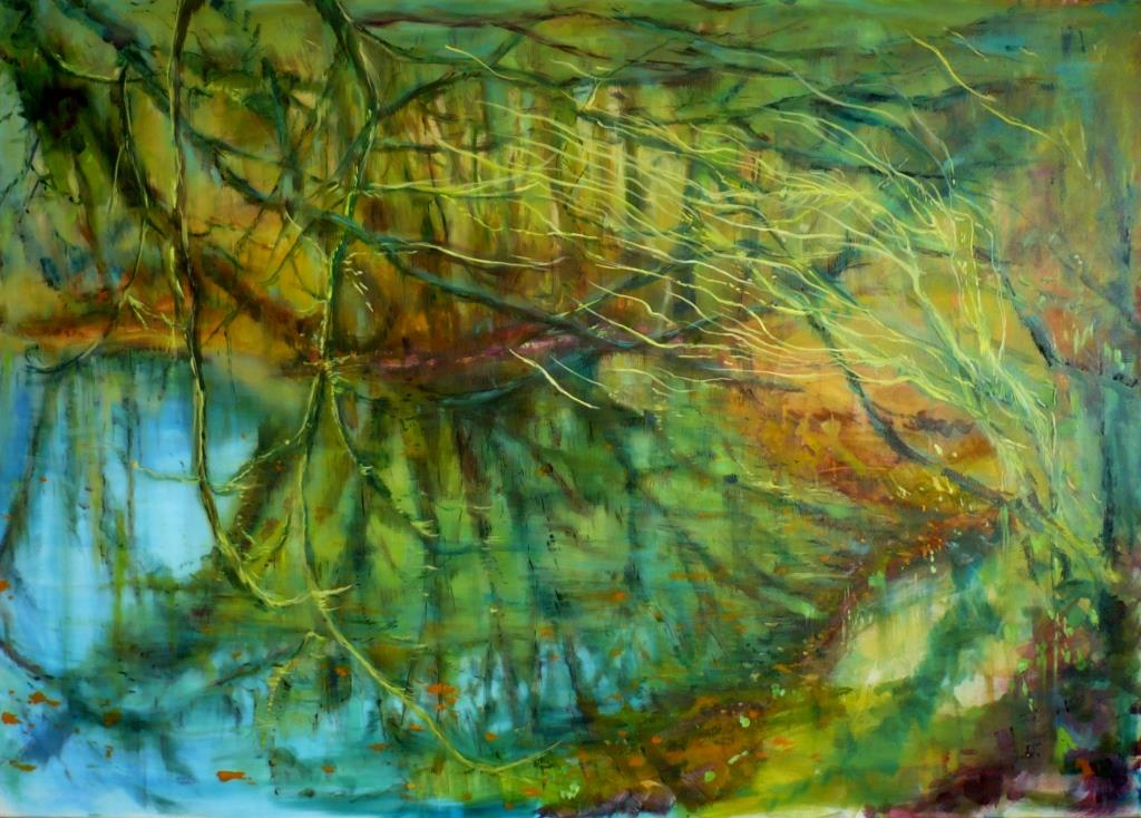 carita-savolainen-the-song-of-the-water-that-bloody-pond-oil-100cm-x-140cm-2015