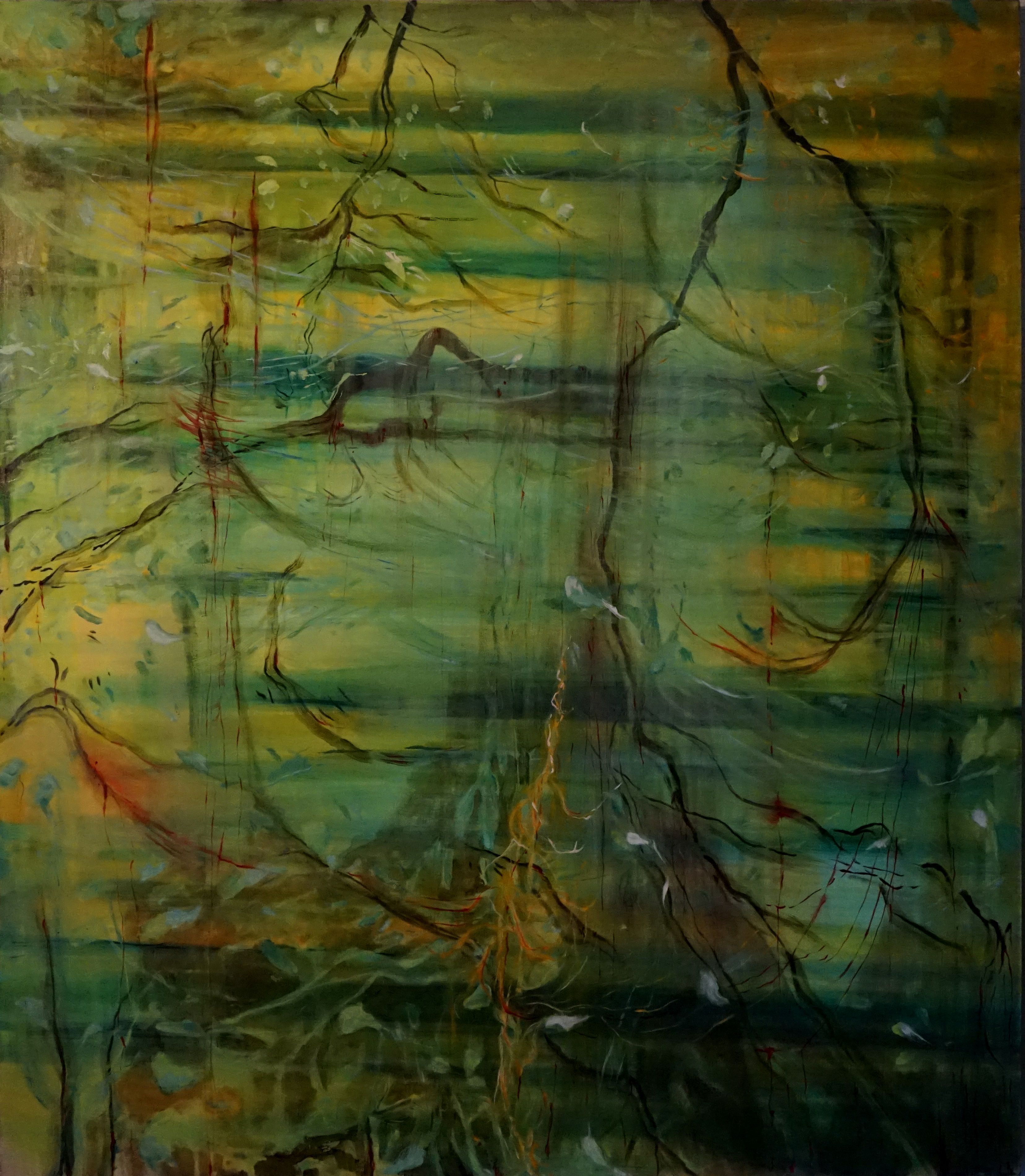 the-song-of-the-bloody-landscape, oil, 150cm x 130cm, 2020