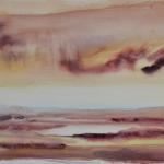 carita savolainen on s'est déjà vu (portrait d'eau) nr 11 aquarelle 28cm x 76cm, 2009