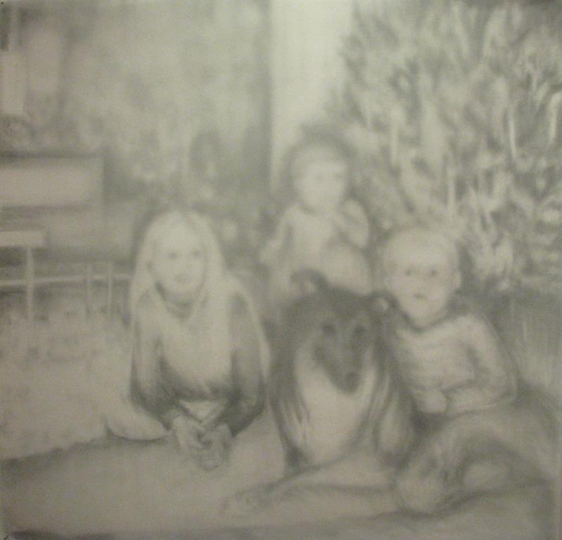 carita-savolainen-memory-transformation-part-1-pencil-on-papier, veil, -130cm-x-130cm