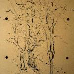 carita-savolainen-tree-6-30cm-x-40cm-ink-on-wood-frame-2015