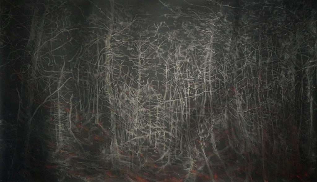 carita-savolainen-le-chant-de-foret-the-song-of-the-woods-140cm-x-245cm-2019