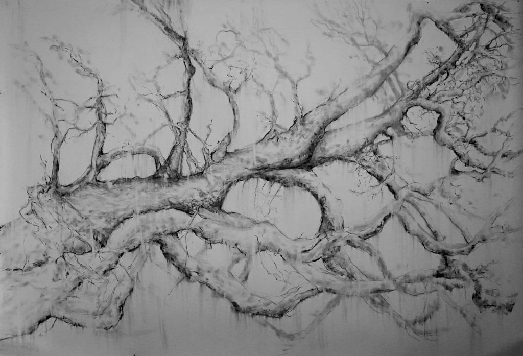 carita-savolainen-le-temps-restera-ii-time-is-left-ii-pencil-and-charcoal-on-paper-150cm-x-225cm-2020