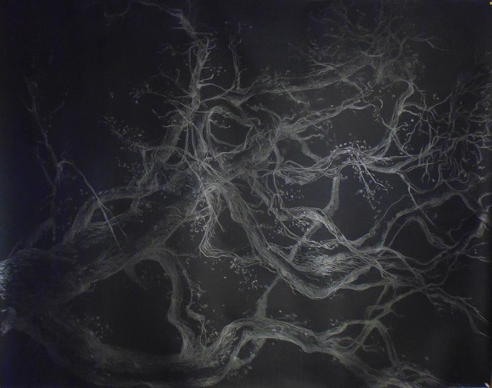 carita-savolainen-le-temps-restera-time-is-left-drawing-on-paper-190cm-x-160cm-2019