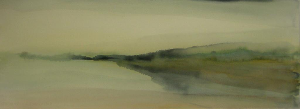 carita-savolainen-airscape-on-water-silence-1-watercolor-75cm-x-28cm-2013