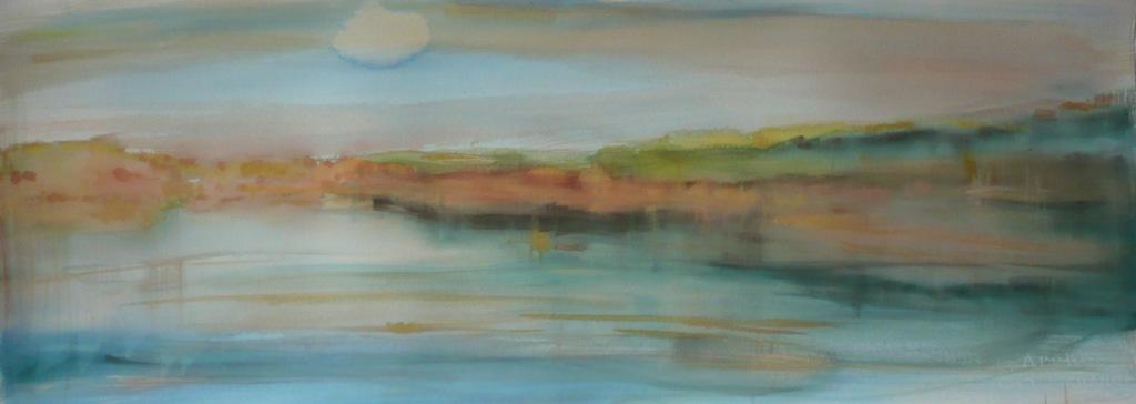 carita-savolainen-waterscape-watercolor-on-arche-paper-28cm-x-76cm-2011