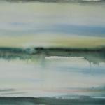 Uni ja Valve (IX), watercolor 28cm x 75cm, 2013