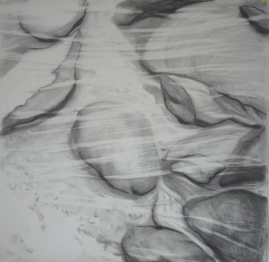 Stream 2, pencil on paper, 77cm x 77cm, 2011